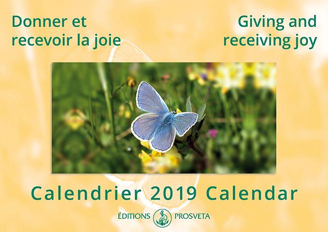 Calendrier 2019 : « Donner et recevoir la joie »
