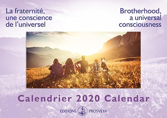 Calendrier 2020 : « La fraternité, une conscience de l'universel »
